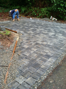 Mt Vernon remodel max impermeable sf so permeable sq concrete pavers side driveway