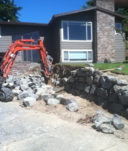 rockery install upgrade landscape improvement driveway expansion