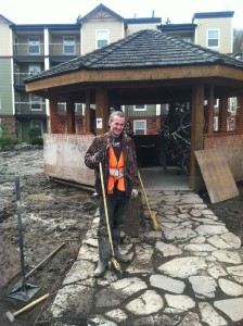 flagstone repairs gazebo drainage improvement mackay landscape services bellingham condo