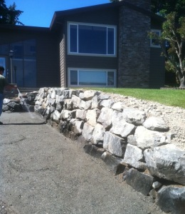 new rockery boulder crushed rock install upgrade replace