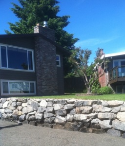 front view rockery upgrade replace landscape install