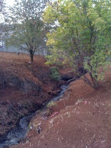 stream bed erosion commercial property landscape renovation upgrade creek improve water flow reduce construction impact